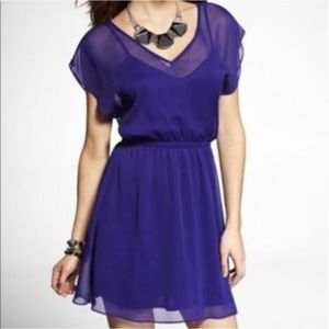 Express Purple Chiffon Dress